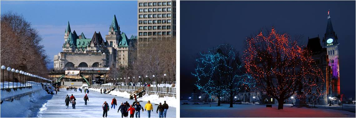 Canal and Parliament Hill by Ottawa photographer Geof H. Burbidge