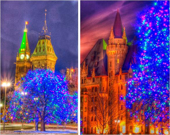 Parliament Hill and the Chateau Laurier by designer John Van Erve.