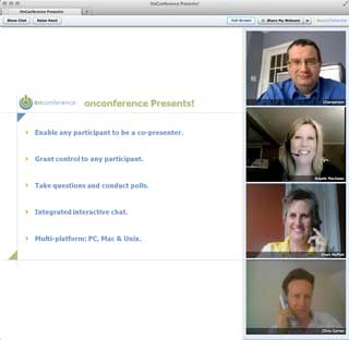 web conference with webcam video window